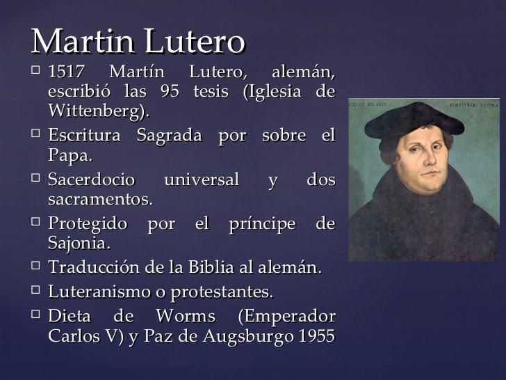 Resultado de imagen de martin lutero y la separacion de la iglesia catolica