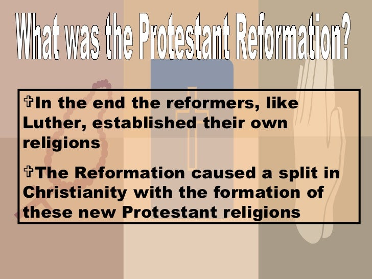 an analysis of the protestant reformation within the work of martin luther It's been 500 years since the dawn of the protestant reformation  luther had a  problem with the fact the catholic church of his day was  that this was the  summary of all christian doctrine, and that the catholic  it's often stated  catholics, by contrast to protestants, believe a mixture of faith and works is.