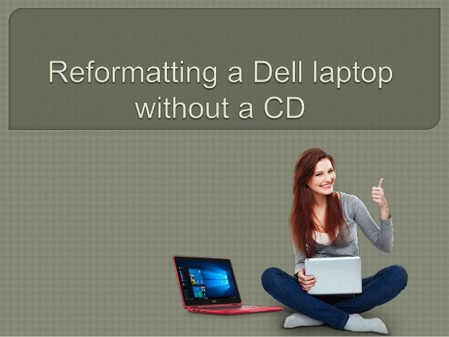 how to reformat a laptop without cd