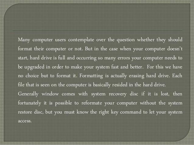 reformat a dell laptop