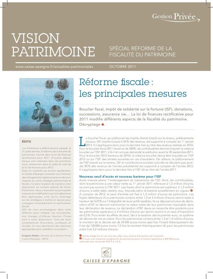 VISIONPATRIMOINE                                                                          SPÉCIAL RÉFORME DE LA           ...