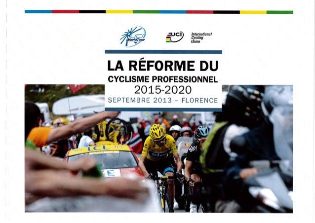 Réforme UCI 2015-2020