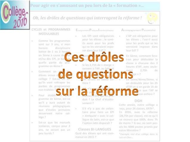 Le SNES-FSU pose un certain nombre de questions sur la mise en œuvre de la réforme. Nous proposons ici des réponses basées...