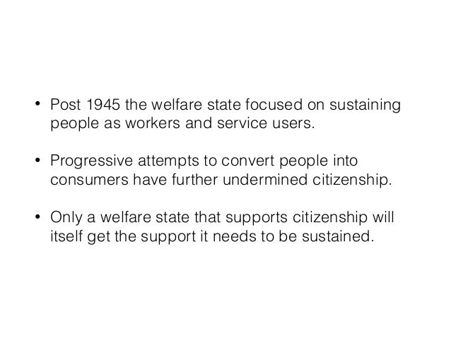 • The current 'reforms' are actually unsustainable attacks on social justice. • But the welfare state does need reform, a ...