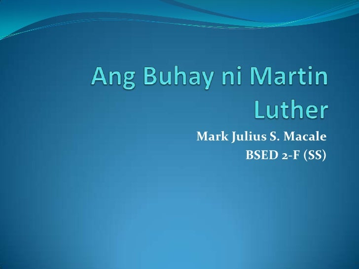 Mark Julius S. Macale       BSED 2-F (SS)