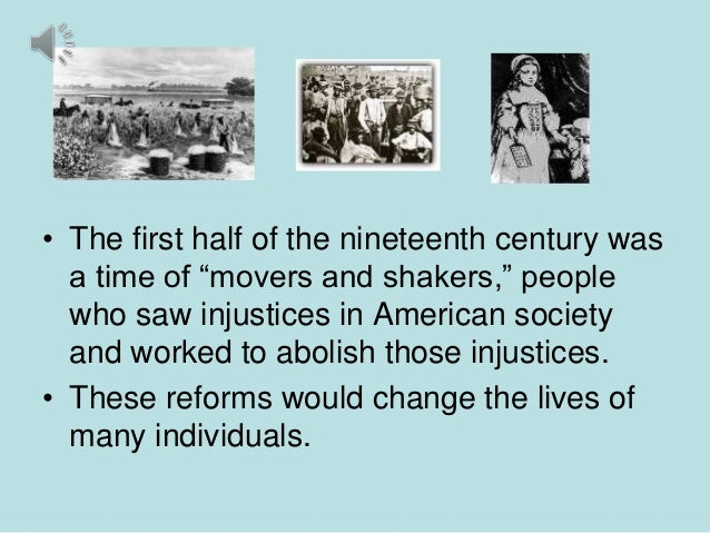 reform movement in 1800s Mental health history and the moral management movement of the 1800s  during the early part of this period of humanitarian reform, the use of moral management.