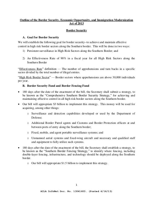 outline immigration reform In the years following the implementation of the immigration reform and control act of 1986 composition i (rough draft) settings for composition i (rough draft.