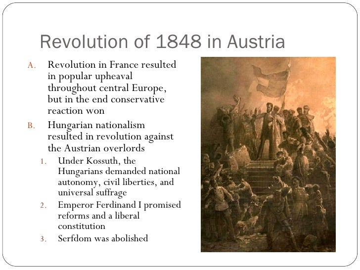 a history of the revolution of 1848 in france The revolutions were most important in france, the netherlands, the states of the german confederation that would make up the german empire in the late 19th and early 20th century revolutions of 1848: a social history (1952) pp 309-401 other.