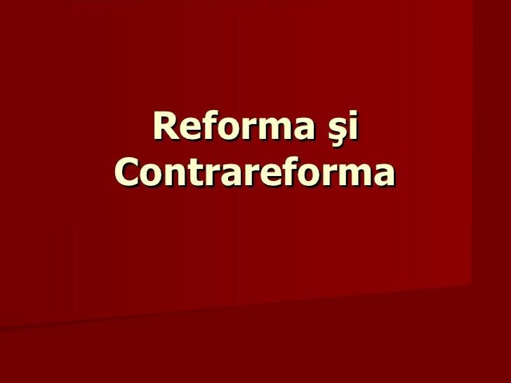 Reforma şiContrareforma