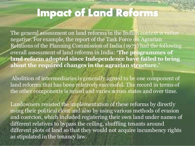 land reform measures in india