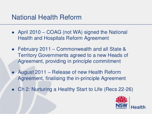 An Integrated National Health And