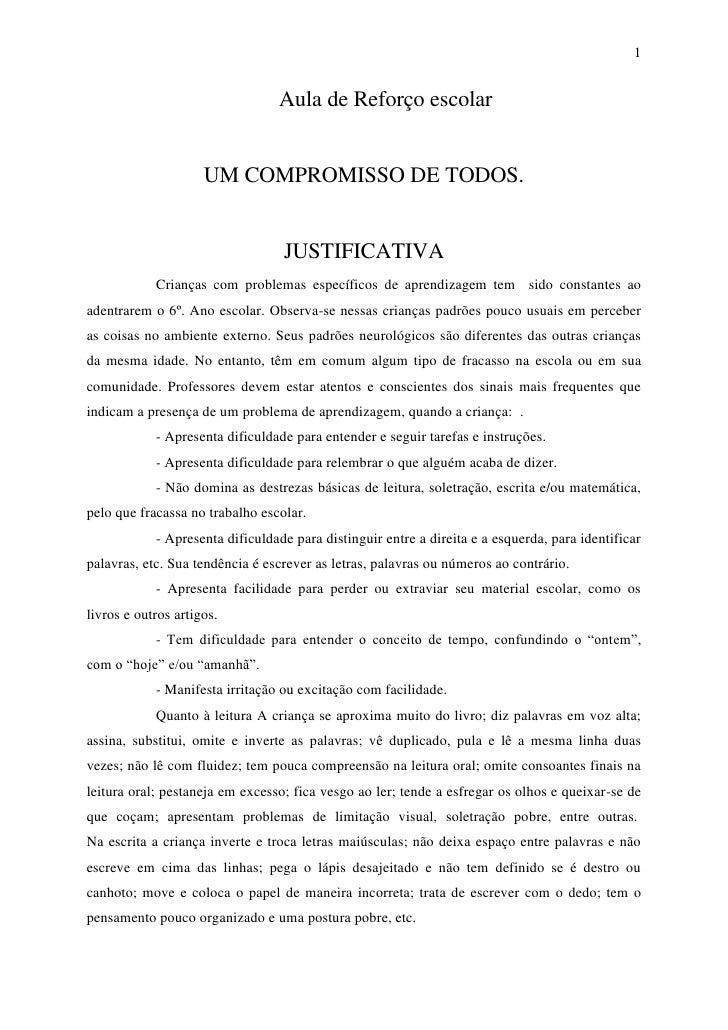 1                                 Aula de Reforço escolar                     UM COMPROMISSO DE TODOS.                    ...