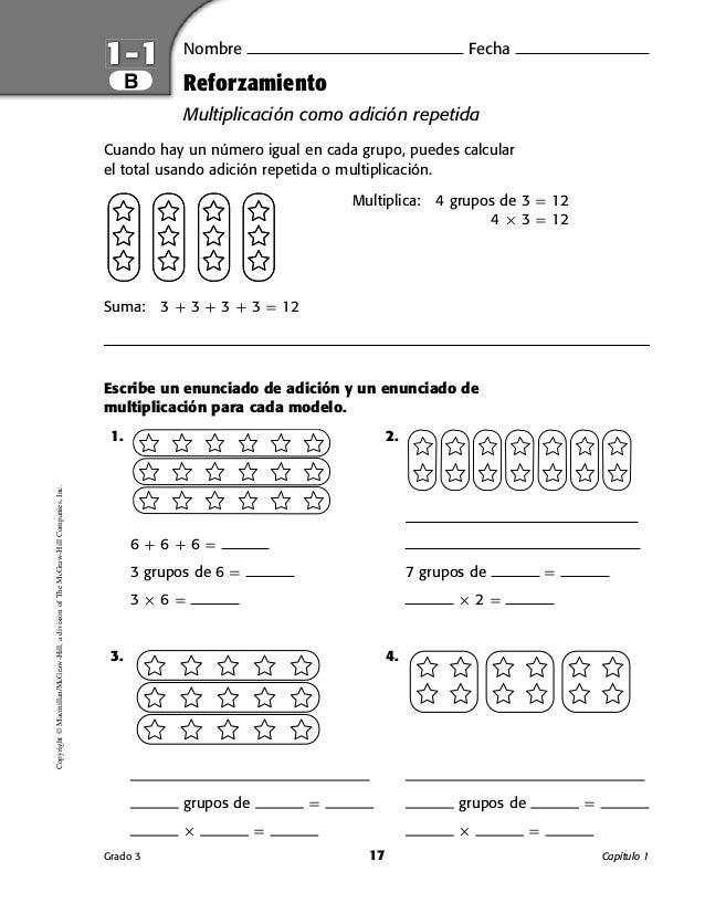 Lujo La Multiplicación Como Grupos Iguales Hojas De Trabajo Ideas ...