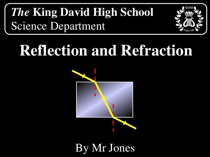 The King David High School<br />Science Department<br />Reflection and Refraction<br />By Mr Jones<br />