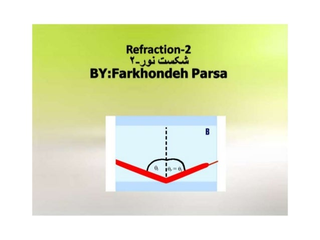 """Refraction-2 L"""":  .: ... .:. .i.  BY: Farkhondeh Parsa  51> --- -----.  $9 ll 9"""