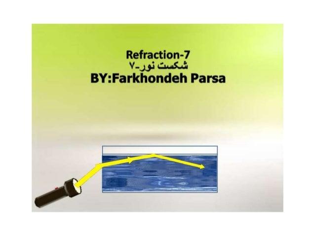 Refraction- V—J3.: | cum BY: Farkhondeh Parsa