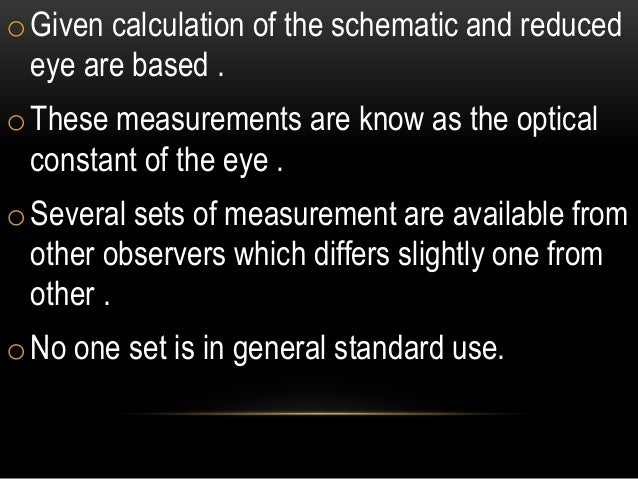 schematic eye and reduced eye  | fr.slideshare.net