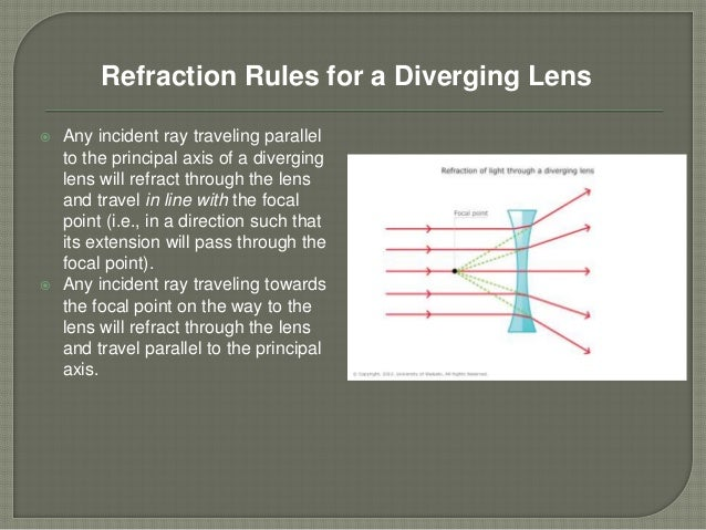 refraction through a lens Most lenses are classified according to their two principal surfaces and curvature  patterns, since the type of refraction that occurs when light travels through a.