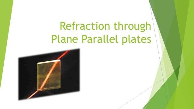 Refraction through Plane Parallel plates