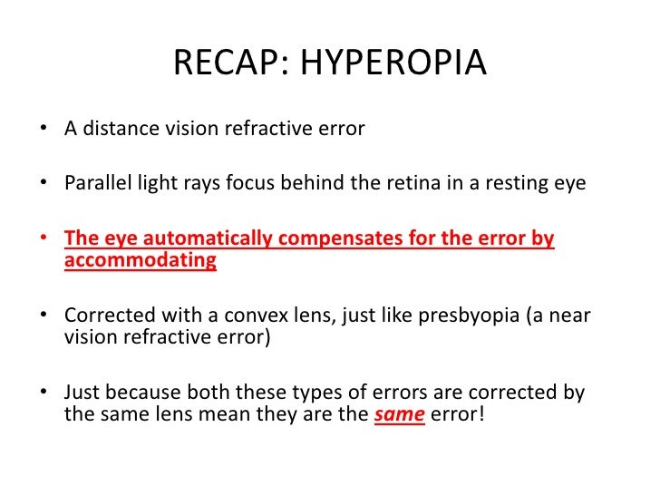 Introduction to ophthalmic optics and refractive errors of the eye.