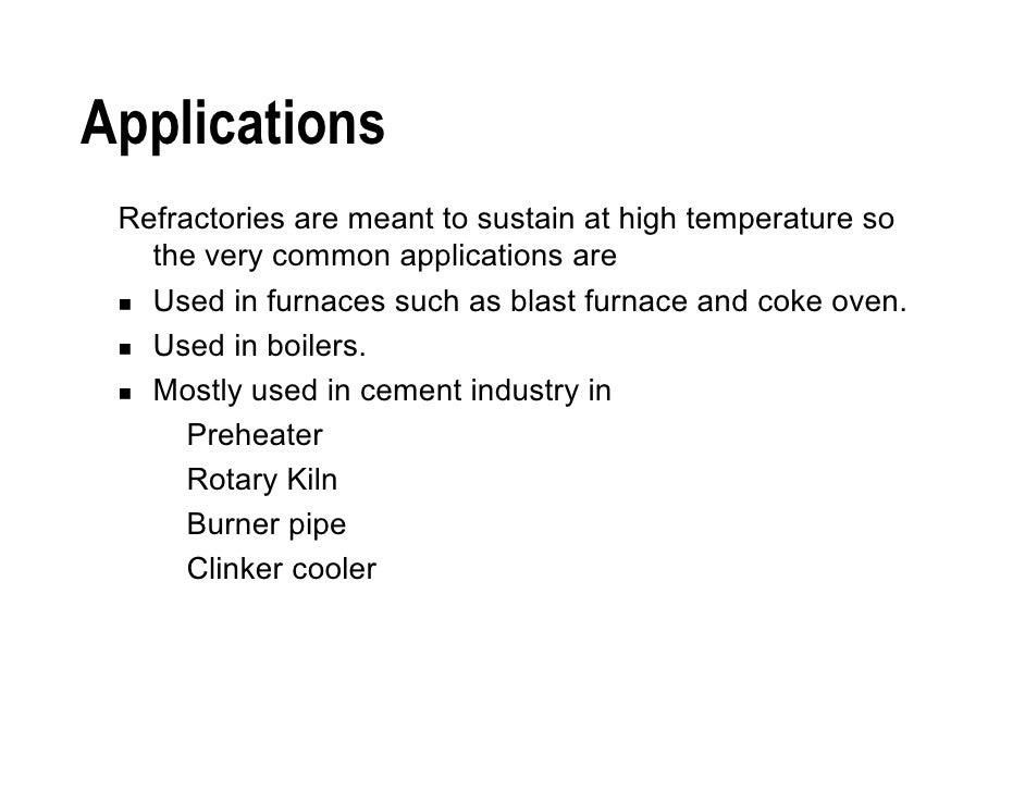 applications of refractories