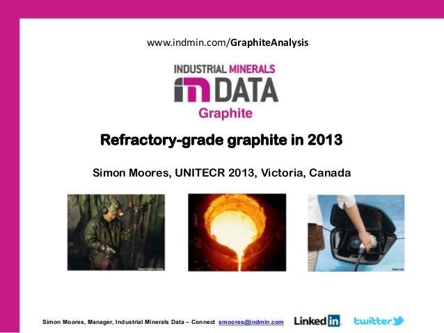 Refractory-grade graphite in 2013 Simon Moores, UNITECR 2013, Victoria, Canada Simon Moores, Manager, Industrial Minerals ...