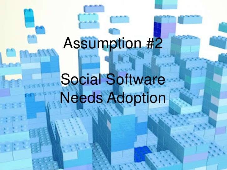 Focus on adaptation, not on adoptionThe most efficient way to provide workers withtools to get their work done is to allow...