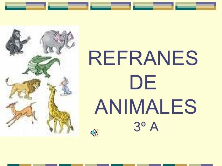 REFRANES  DE  ANIMALES 3º A