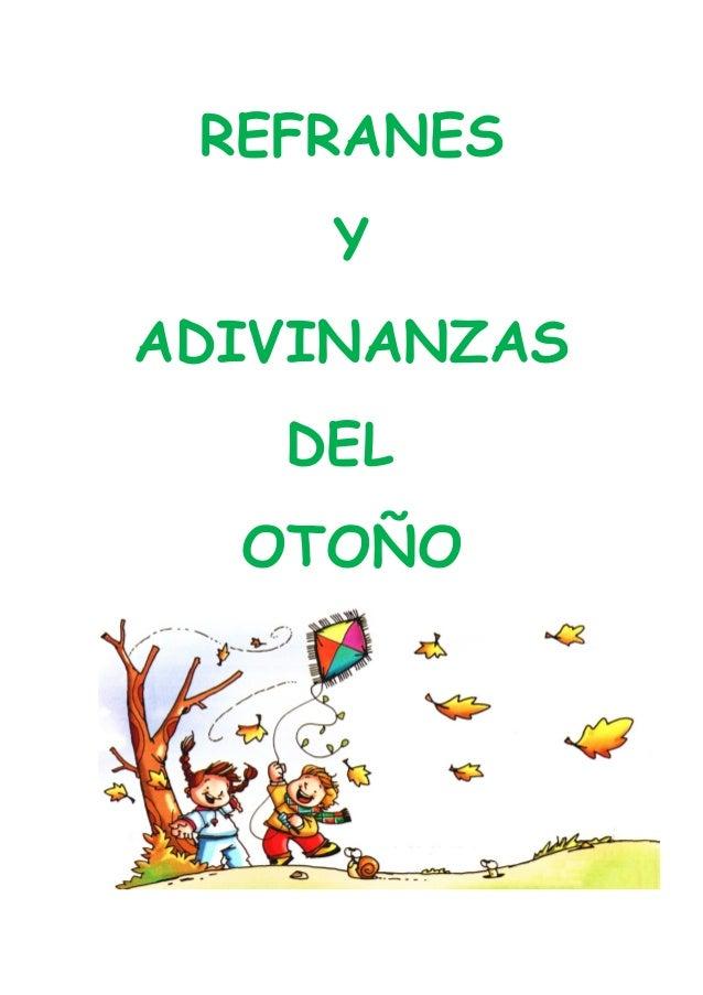 REFRANES Y ADIVINANZAS DEL OTOÑO
