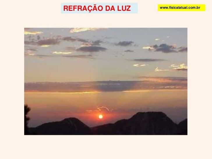 REFRAÇÃO DA LUZ<br />www.fisicalatual.com.br<br />
