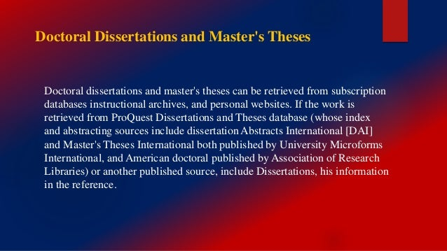 unpublished masters thesis Find a dissertation your library may be able to provide access to the dissertation you're looking for whether you are looking for a specific graduate work, or.