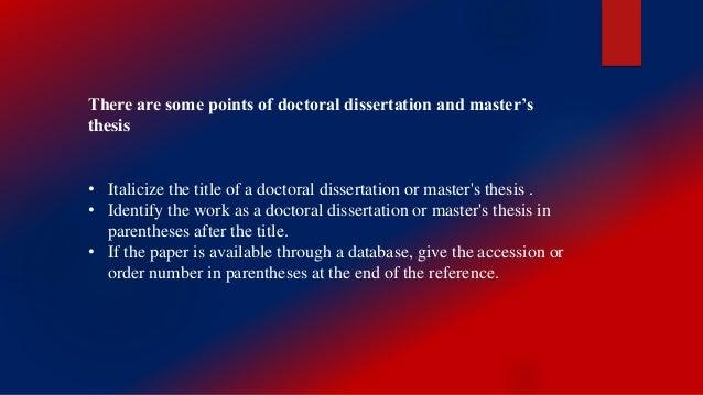 Publishing dissertation research