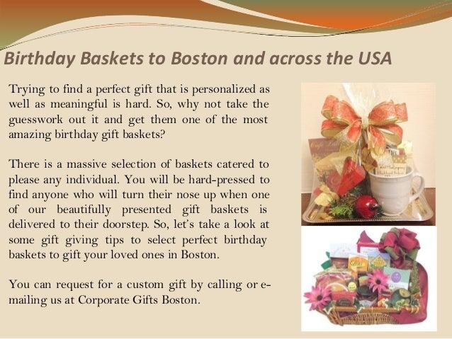 Birthday Baskets To Boston