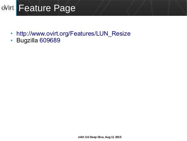 oVirt 3 6 Deep Dive: Refresh LUN size