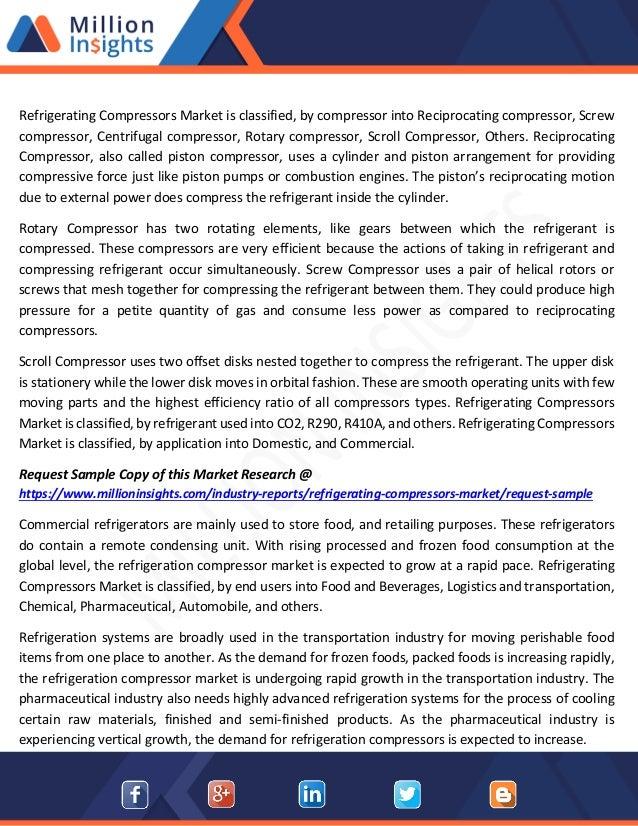 Refrigerating Compressors Market Trends, Revenue and Region