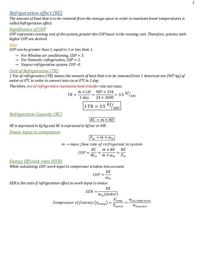 Refrigeration and air conditioning notes for gate