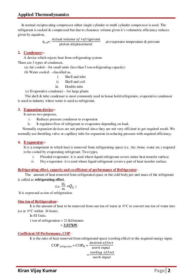 Refrigeration vtu atd notes pdf download