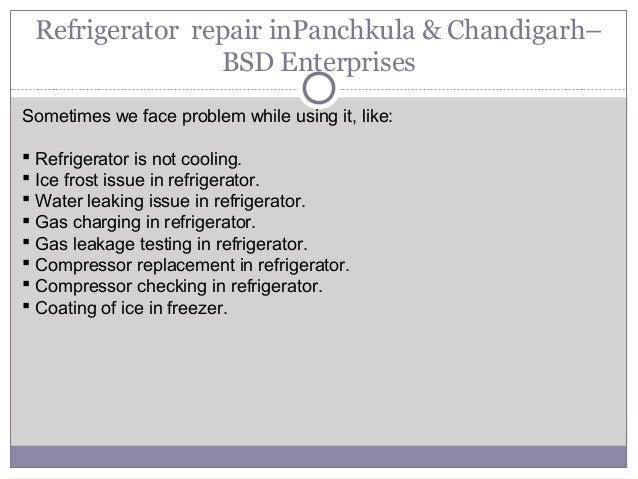 Refrigerator repair service panchkula