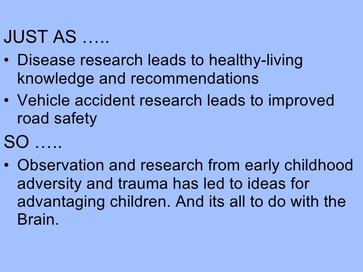<ul><li>JUST AS ….. </li></ul><ul><li>Disease research leads to healthy-living knowledge and recommendations </li></ul><ul...