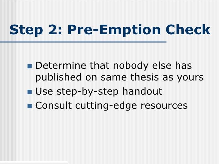 Pre-emption thesis
