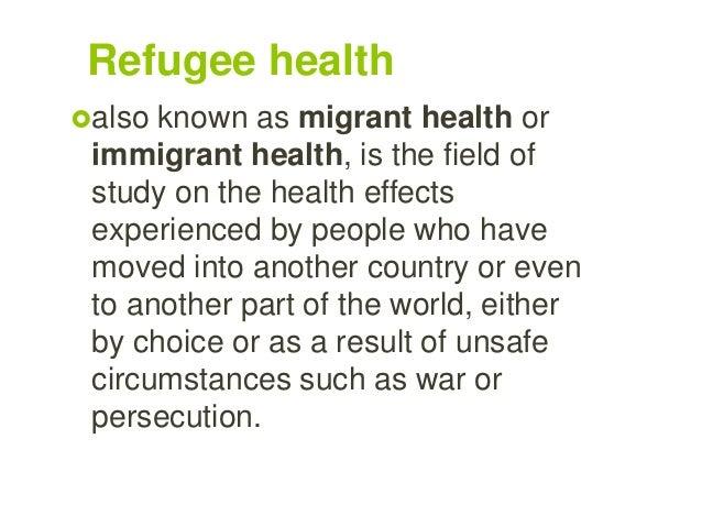 Refugee &migrants health Slide 2
