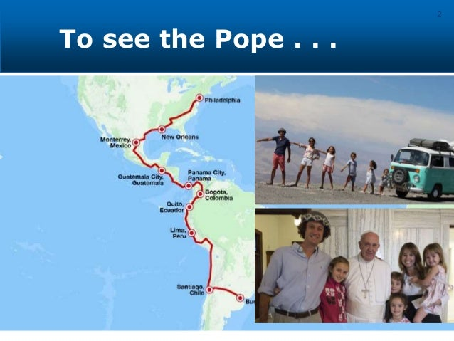 To see the Pope . . . 2 • Moving for Opportunity - Migrants • Moving because of Violence - Refugees • Urban / Rural Shift