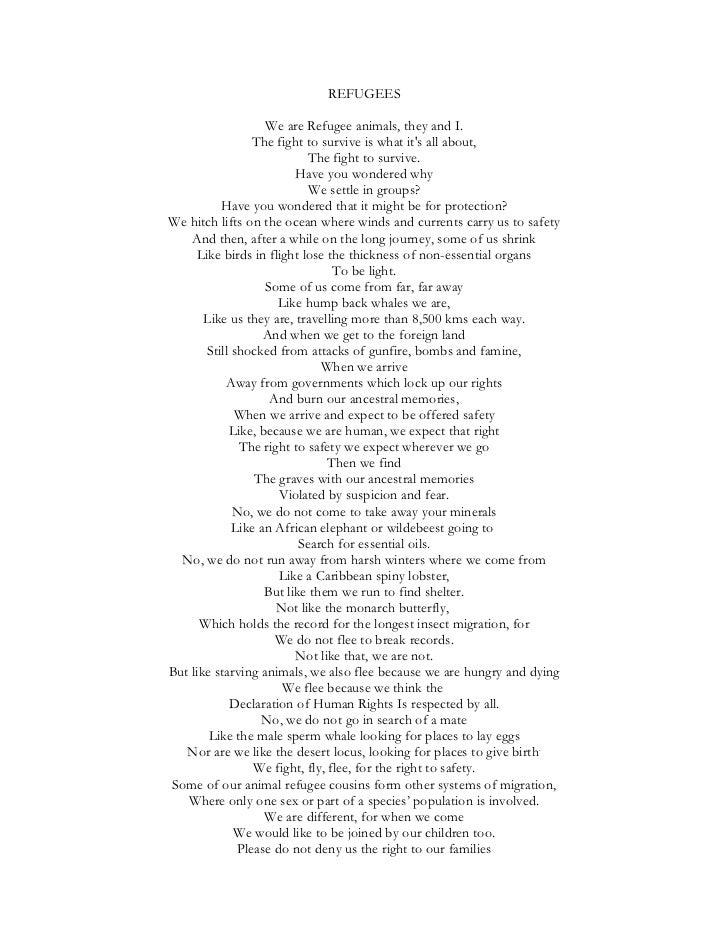 Refugees. A Poem