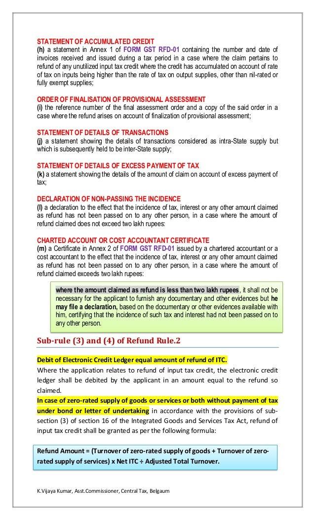 Refund under GST Law
