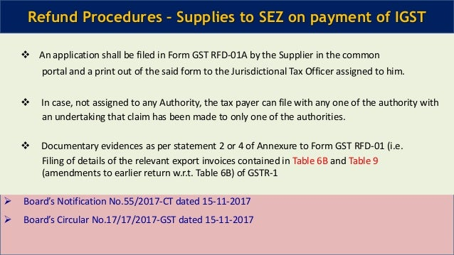Refund under GST updated