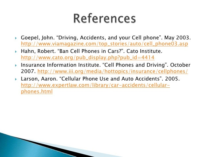 I am writing a persuasive essay on using cell phones while driving.?