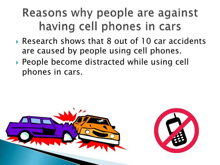 An analysis of cell phones while driving