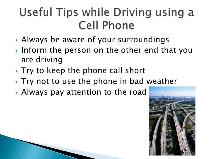 essay on usage of cellphones while driving