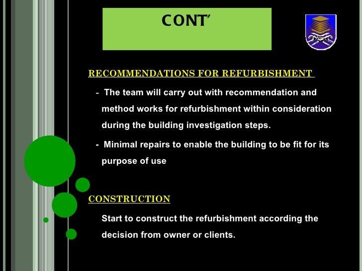 definition of refurbishment in construction