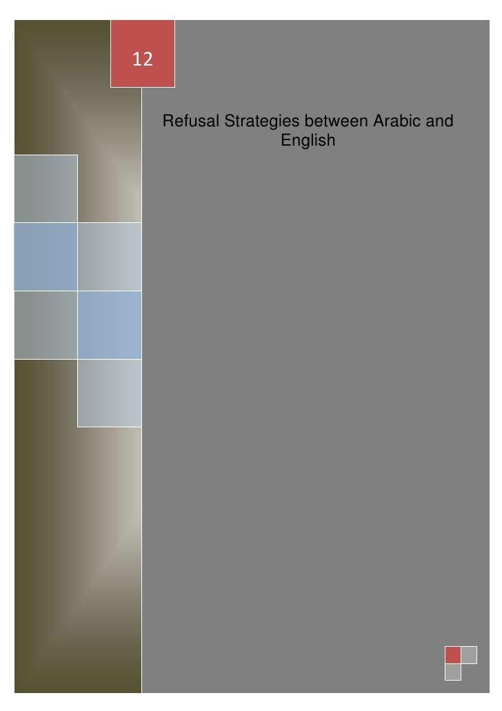 12     Refusal Strategies between Arabic and                     English